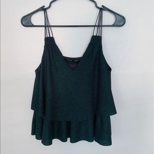 Zara Green Sparkle Tank Top